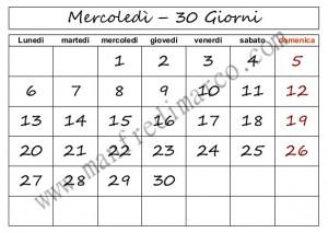 Calendario perpetuo da stampare_mercoledì30
