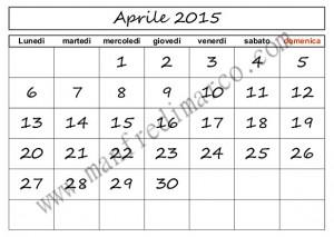 Calendario perpetuo per ogni mese__griglia